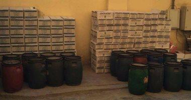 ضبط 8 أطنان معسل مغشوش بمصنع بالهرم