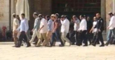 مستوطنون يقتحون باحات المسجد الأقصى بحماية قوات الاحتلال الإسرائيلى