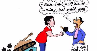 الجندى المصرى البطل وخبراء السوشيال فى كاريكاتير اليوم السابع