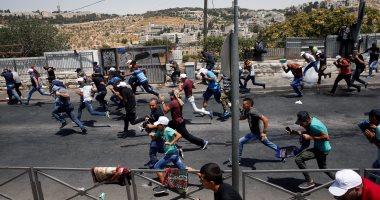 إصابة 3 شبان فلسطينيين فى مواجهات مع قوات الاحتلال جنوب قطاع غزة