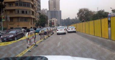 نشر الخدمات المرورية بمحيط أعمال إنشاء محطة مترو جامعة الدول العربية