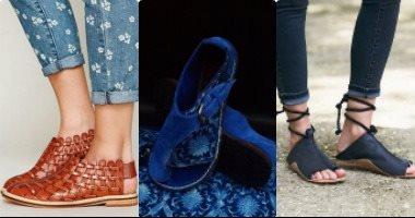 1ce16a605 بالصور موديلات احذية فلات بسيطة مريحة فى الصيف - اليوم السابع
