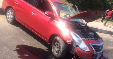 إصابة شخص فى انقلاب سيارة ملاكى أعلى محور صلاح سالم