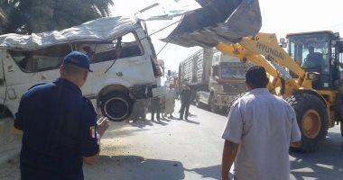 الصحة: إصابة 16 مواطنا فى حادثى سير بالغربية والفيوم -