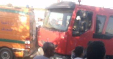 سقوط سيارة محملة بمشيعى جنازة من أعلى معدية فى مياه النيل ببنى سويف
