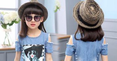ffba1bf0b001f فساتين أطفال جينز اختارى منها لإطلالة عصرية لبنتك - اليوم السابع