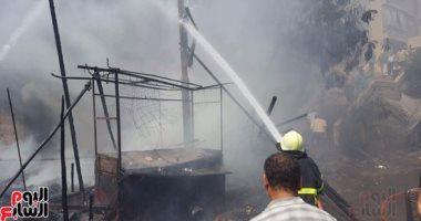 السيطرة على حريق داخل مخزن  بلاستيكات فى البدرشين دون إصابات