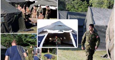 الجيش الكندى يقيم مخيما على الحدود مع أمريكا لمواجهة تدفق المهاجرين