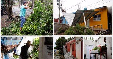 إعصار يضرب ساحل المكسيك بسرعة 21 كيلومترا فى الساعة