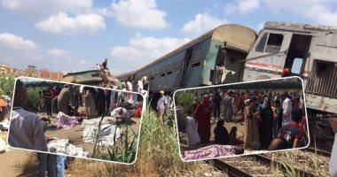 السكة الحديد تعلن تشكيل لجنة للتحقيق فى أسباب تصادم قطارى الإسكندرية