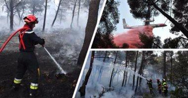 حرائق الغابات تدمر مئات الأفدنة جنوب شرق فرنسا