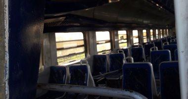 اليوم السابع ينشر أول فيديو من داخل قطارى الإسكندرية