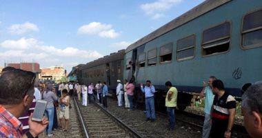 تصادم قطارين فى منطقة خورشيد بالإسكندرية