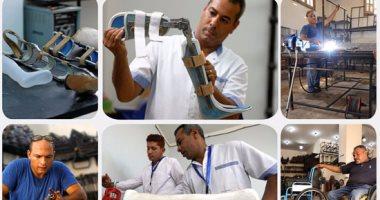 """""""ذوو احتياجات خاصة"""" يصنعون أجهزة لأمثالهم من الفقراء بالقاهرة"""