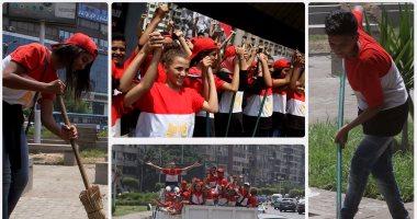 """بالفيديو.. """"أطفال مصر بخير"""" حملة لنظافة الشوارع وزيارة دور الأيتام والمرضى بالجيزة"""