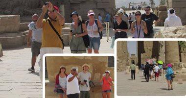 توافد السياح على الأقصر للاستمتاع بسحر الحضارة الفرعونية