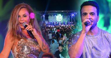 لويس فونسى ونيكول سابا يشعلان حفل الساحل الشمالى بحضور المشاهير