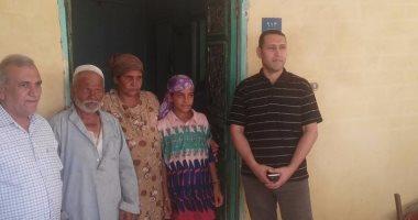 """استجابة لـ""""اليوم السابع"""".. وحدة سكنية لأسرة الطريق وفرصة عمل لعائلها"""