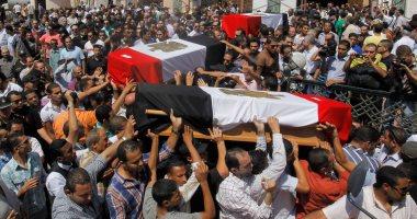 حتى لا ننسى إرهاب الإخوان.. جنازات شهداء الشرطة فى
