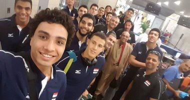 بالصور.. منتخب الطائرة تحت 19 سنة يغادر إلى البحرين استعدادا لبطولة العالم