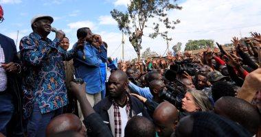 بالصور.. زعيم المعارضة فى كينيا يدعو أنصاره إلى الإضراب عن العمل