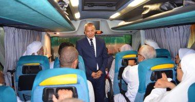 بالصور.. مدير أمن مطروح والسكرتير العام يودعان فوج حجاج القرعة