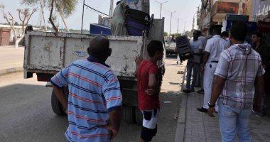إزالة 106 حالات إشغال وباعة متجولين في حملة بشارع أحمد عرابى بالأقصر