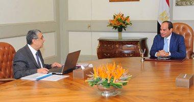 الرئيس السيسى يعقد اجتماعين مع وزيرى الكهرباء والإسكان