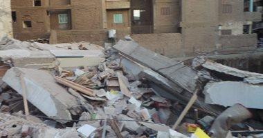 انهيار عقار بسوهاج مكون من 5 طوابق دون إصابات