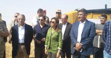 وزيرة الاستثمار ومحافظ شمال سيناء يتفقدان مشروعات تنموية بالمحافظة