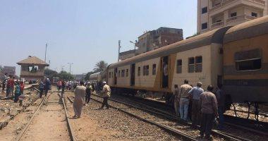 """توقف قطار """"القاهرة - بورسعيد"""" فى طوخ بالقليوبية بسبب عطل فنى فى الجرار"""