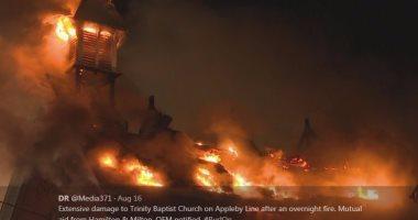 بالصور.. هجوم على كنيسة تاريخية فى كندا يحمل بصمات داعش