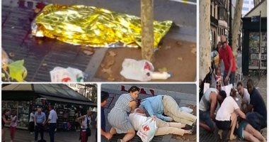 بالفيديو.. لحظة مقتل مشتبه به فى حادث دهس برشلونة