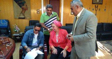 """مدحت صالح يجرى بروفة موسيقية أخيرة قبل حفل """"أضواء المدينة"""""""
