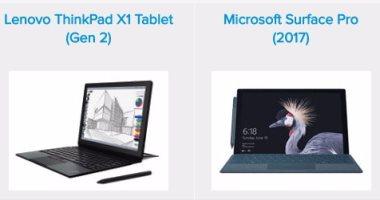 إيه الفرق بين لاب توب ThinkPad X1 Tablet وMicrosoft Surface Pro ؟