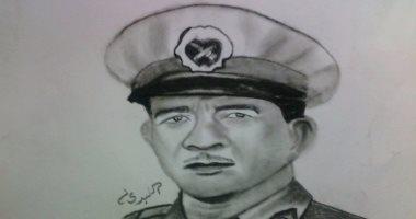 قارئ يهدى الرئيس الراحل محمد نجيب بورتريه فى ذكرى وفاته الـ 33