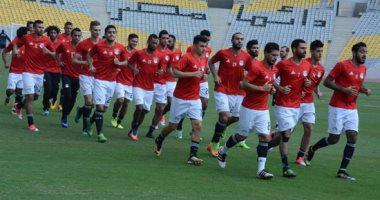 بالصور مباراة مصر وأوغندا المنتخب يؤدى المران الأخير قبل السفر