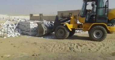 إصابة مأمور قسم ثانى شبرا الخيمة فى حملة إزالة تعديات على أراضى الدولة