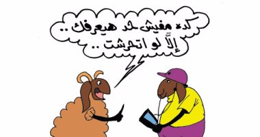 """مواقف وطرائف الخروف """"المتخفى"""".. فى كاريكاتير """"اليوم السابع"""""""