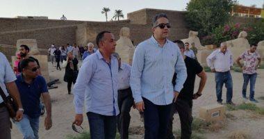 وزير الآثار يعلن اكتشاف مقبرة فرعونية جديدة بالأقصر فى مؤتمر صحفى عالمى اليوم