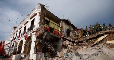 58 قتيلا فى زلزال المكسيك المدمر واستمرار البحث عن آخرين تحت الأنقاض