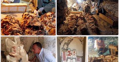 وزير الآثار يعلن اكتشاف مقبرة صانع الذهب فى الأسرة الـ18
