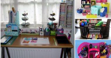 حلول مبتكرة لتنظيم أدوات المدرسة غرفة أطفالك