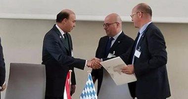 بالصور.. مهاب مميش: توقيع اتفاقيات مع البافارية الألمانية لإنشاء 5 مصانع شرق بورسعيد