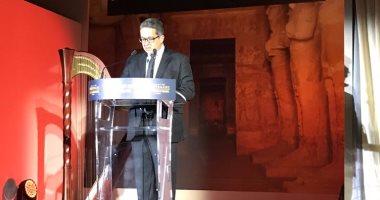 بالصور.. وزير الآثار يشارك باحتفالية مرور 200 سنة على اكتشاف معبد أبو سمبل بباريس