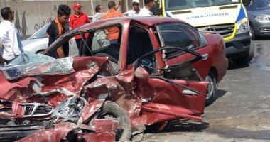 قارئ يشارك بصور لحادث تصادم سيارة ملاكى بأخرى ملاكى بطريق الأتوستراد