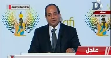 السيسي: الشعب المصرى يخوض الحرب على الإرهاب نيابة عن العالم