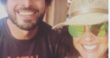 """هند صبرى تنشر صورة بصحبة عمر سمرة.. وتعلق: """"أكثر الناس إلهاما لى"""""""