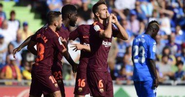 شاهد.. برشلونة يتربع على صدارة الدوري الإسباني بالفوز 2 / 1 أمام خيتافى