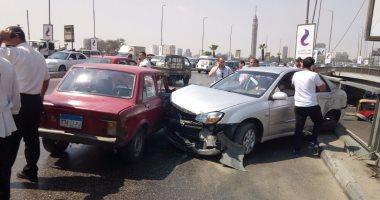إصابة شخص صدمته سيارة أثناء عبوره أعلى الطريق فى مدينة السلام
